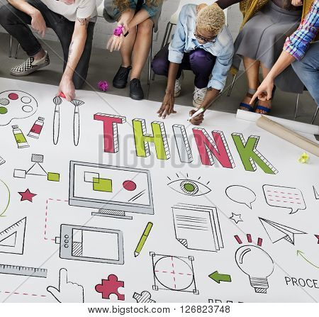Think Thinking Inspiration Planning Solution Concept