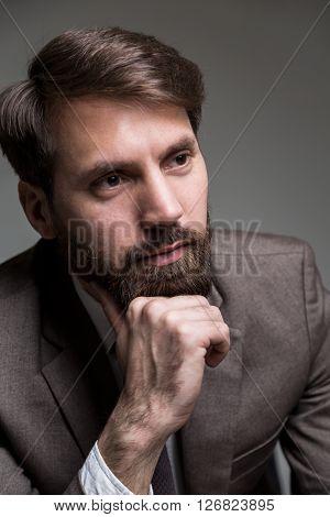 Hand At Chin Portrait