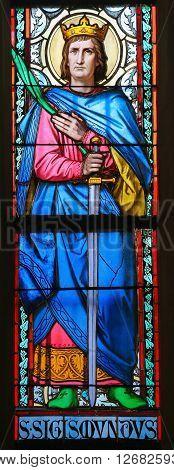 Stained Glass - Saint Sigismund, King Of Burgundy