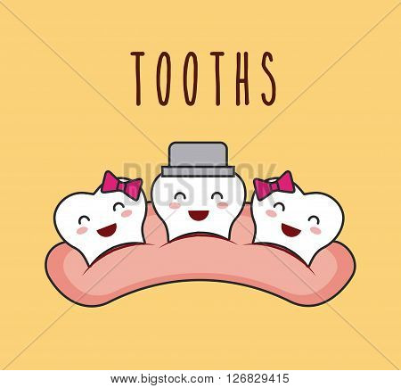 dental hygiene design, vector illustration eps10 graphic