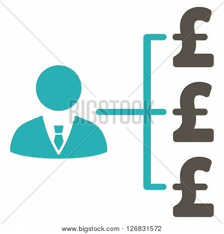 Banker Pound Payments vector icon. Banker Pound Payments icon symbol. Banker Pound Payments icon image. Banker Pound Payments icon picture. Banker Pound Payments pictogram.