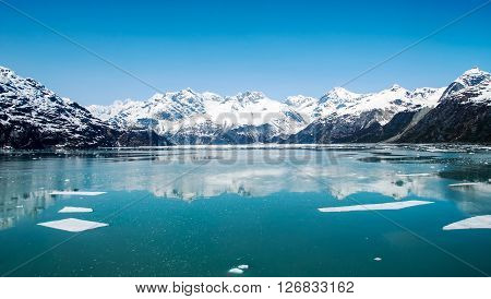 Beautiful morning in Glacier Bay National Park and Preserve, Alaska, United States.
