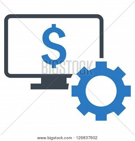 Financial Monitoring Options vector icon. Style is bicolor flat symbol, smooth blue colors, white background.