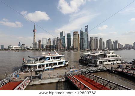 Ferry In Shanghai, China