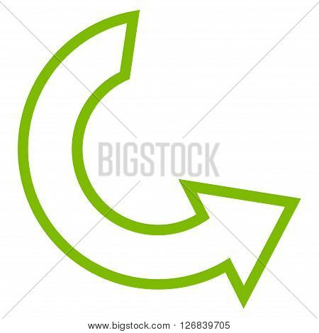 Rotate Ccw vector icon. Style is outline icon symbol, eco green color, white background.