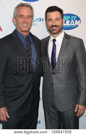 LAS VEGAS - APR 21:  Bobby Kennedy Jr, Jimmy Kimmel at the Keep It Clean Comedy Benefit For Waterkeeper at the Avalon Hollywood on April 21, 2016 in Los Angeles, CA
