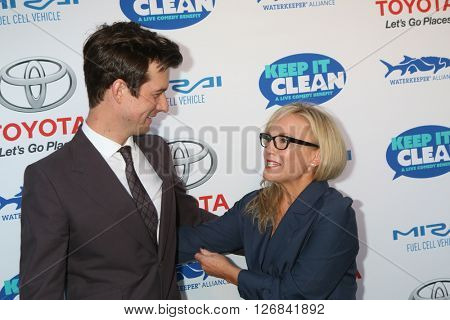LAS VEGAS - APR 21:  Christian Hebel, Rachael Harris at the Keep It Clean Comedy Benefit For Waterkeeper at the Avalon Hollywood on April 21, 2016 in Los Angeles, CA