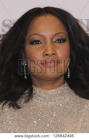 LAS VEGAS - APR 15:  Garcelle Beauvais at the  23rd Annual Race To Erase MS Gala at the Beverly Hilton Hotel on April 15, 2016 in Beverly Hills, CA