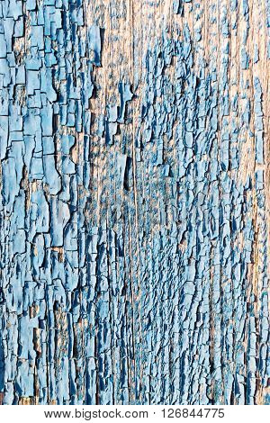 Old Flaking Blue Paint Texture