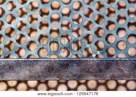 Circle Metal Vent Texture