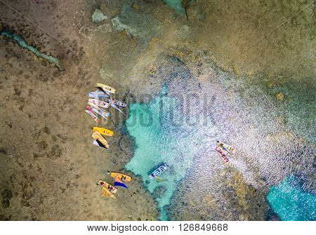 Top View of Great Barrier , Pernambuco, Brazil
