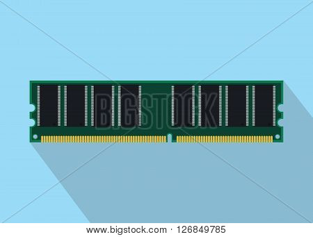 ram random access memory isolated with flat style vector illustration