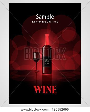cover poster face wine red vine bokeh background