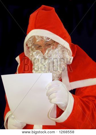 santa reading all the chidrens letters