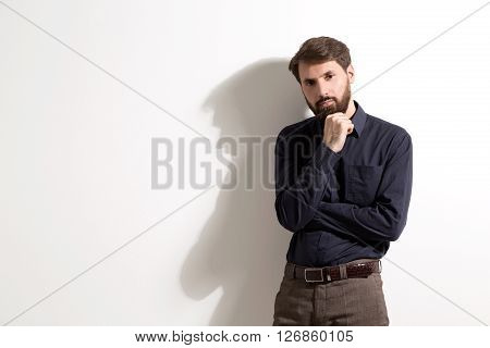 Man With Beard On White