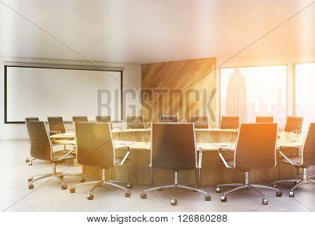 Sunlit Conference Room