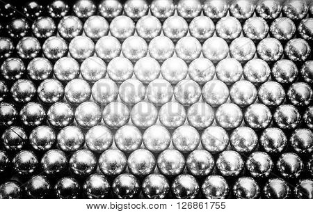 Abstract texture of metal balls for abstract background