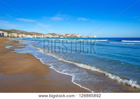 Cullera Sant Antoni beach San Antonio in Valencia of Spain