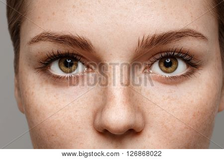 Eyes Woman Close-up Freckles Face