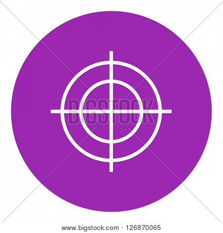Shooting target line icon.