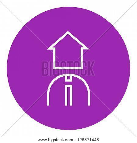 Real estate agent line icon.