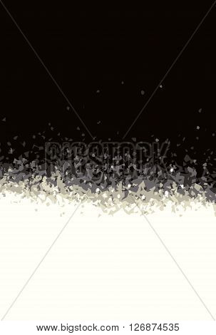 turbulent gradient background in black and white