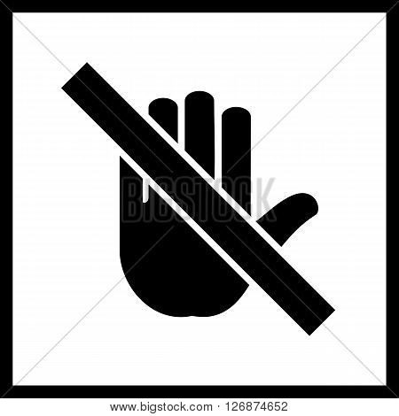 Stop Hand pointer sign.Vector  Stop Hand icon isolated on a white background.Public icon, pointer