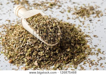 Oregano On White Table