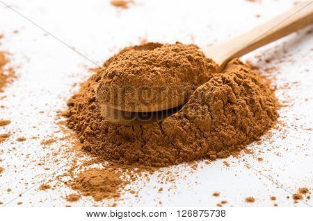 Cinnamon Powder On White Table