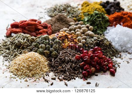Abundance Of Color Spices