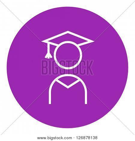 Graduate line icon.