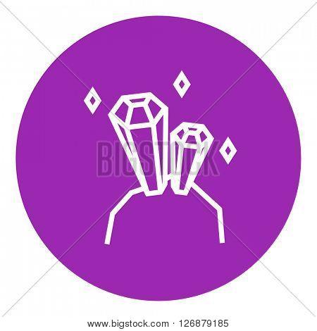 Gemstones line icon.
