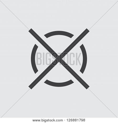 Crosshair icon, isolated on white background illustration