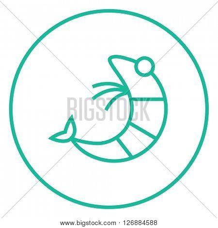 Shrimp line icon.