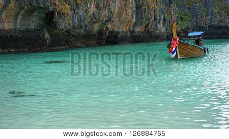 Traditional Longtailboat In Thailand
