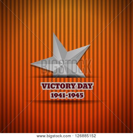 Victory Day Silver Star Vector Illustration Eps 10 Background
