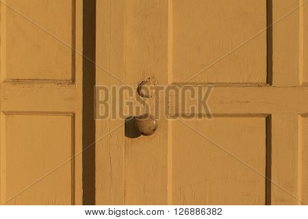 a picture of an exterior mid 20th century office door handle