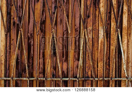 Metal background with an abstract rusty  texture