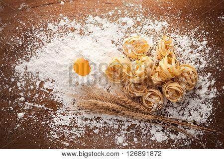 Fettuccine Pasta Italian Food Still Life Rustic