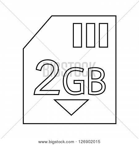 Memory Card 2 Gb icon Illustration design