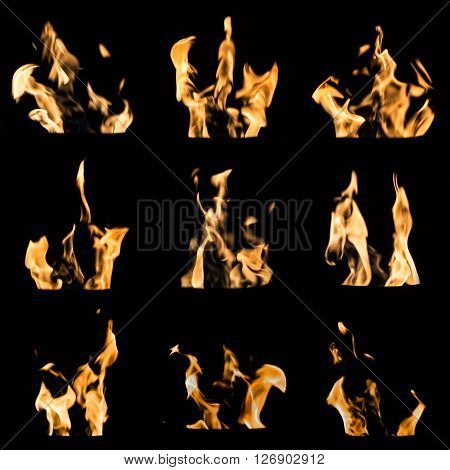 Fire Flames Collage
