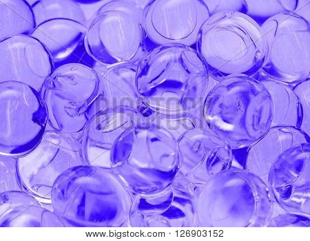blue transparent balls close-up texture, background, gel, gelatin