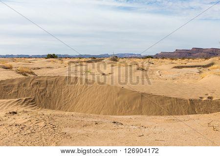Beautiful Moroccan landscape, Sahara desert, desert landscape