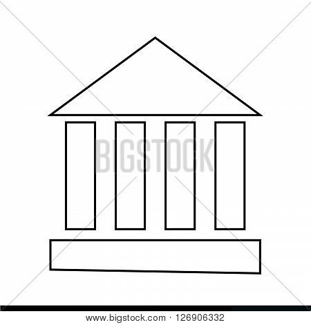 an images of Monument Temple Column Icon Illustration design