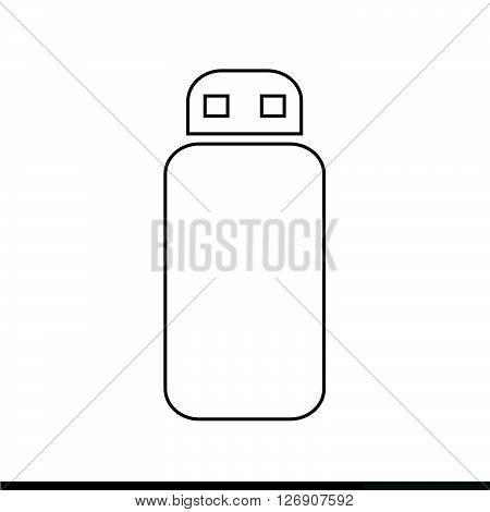 an images of USB Memory Icon Illustration design