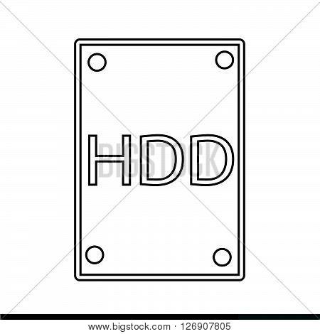 an images of Hard Disk Icon Illustration design