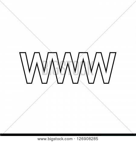 World wide web symbol icon Illustration design
