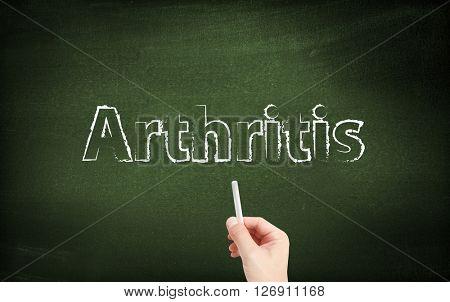 Arthritis written on a blackboard