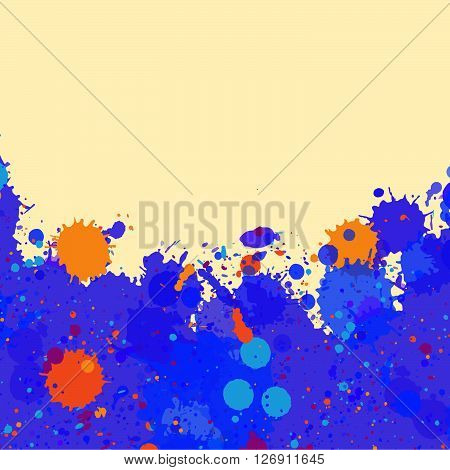 Watercolor Paint Splashes Frame