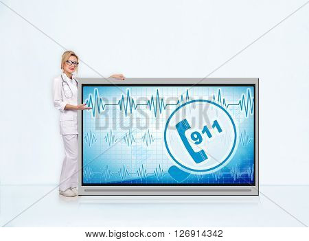 911 Symbol On Tv Screen